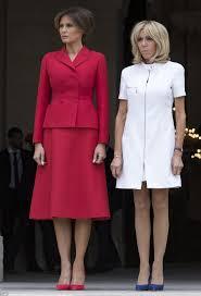brigitte macron and melania trump meet in paris daily mail online
