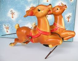 mold reindeer empire tabletop plastic with metal holder two