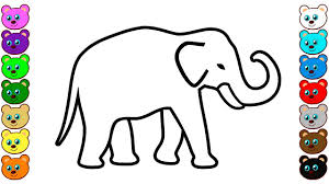 learn colors for kids with indian elephant coloring pages youtube