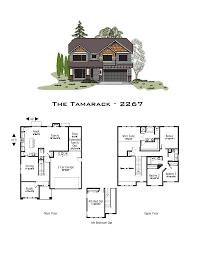 Tamarack Floor Plans by Best Oregon Home Plans
