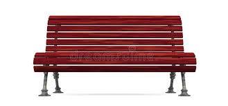 Slat Bench Red Wood Slat Bench Isolated Royalty Free Stock Images Image