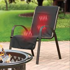 Patio Chair Cover The Cordless Heated Patio Chair Cover Hammacher Schlemmer