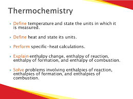 section 1 u2013 thermochemistry section 2 u2013 driving force of