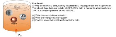 what is 1 75 bath solved problem 4 a 10 kg oil bath has 3 balls namely 1
