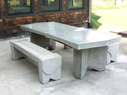 Concrete Patio Tables And Benches Concrete Garden Furniture Kiepkiep Club