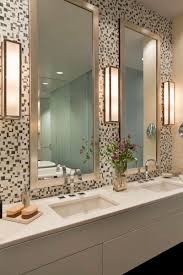 bathroom bathroom lighting ideas on mosaic tile wall plus double
