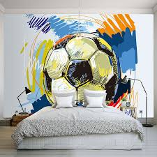 modern fashion hand painted graffiti football wallpaper custom mural non woven interior wall decoration art wall painting soccer in wallpapers from home