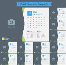 2018 calendar cdr ai eps free vector download cdrai