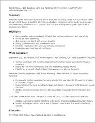 Employment Specialist Resume Professional Talent Acquisition Specialist Templates To Showcase
