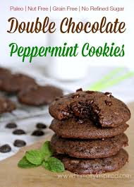 double chocolate peppermint cookies paleo nut free recipe