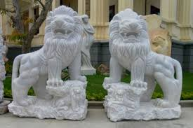 white foo dogs white marble foo dogs lion statues in pairs for sale