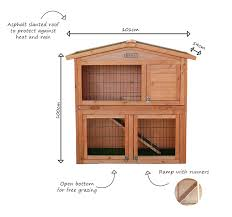 charles bentley pets large two storey 2 tier outdoor rabbit hutch