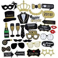 photo booth props diy 2018 happy new years photo booth props gold glitter new