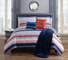 Bed In A Bag Duvet Cover Sets by Piece Roony Orange Reversible Bed In A Bag W Throw Blanket Set