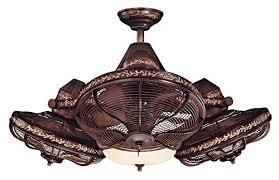 38 Esquire Rich Bronze Finish 3 Head Ceiling Fan Retro Appliances
