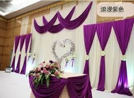 wedding backdrop aliexpress free shipping deluxe backdrop deluxe purple swag pipe and