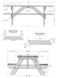 Plans For Picnic Table With Attached Benches by Innovative Size Of Picnic Table Kid Size Wood Picnic Table With