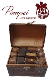 chocolate delivery sweet mini treasure chocolate gift basket by pompei baskets