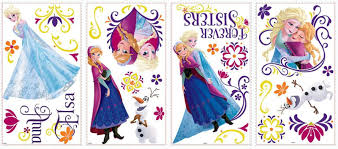 appliques murals babies disney frozen spring peel stick wall decals