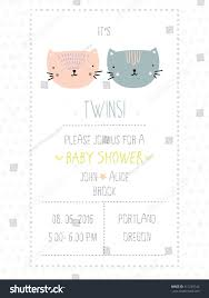 baby shower invitation twins stock vector 411228142 shutterstock