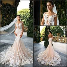 wedding dress mermaid milla 2017 mermaid wedding dresses cap sleeve sheer