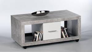 Wohnzimmertisch Outlet Stone Beton Optik Grau Und Weiß Mit 2 Schubkästen 115x60 Cm