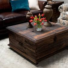 Trunk Style Coffee Table Brown Square Rustic Wood Trunk Style Coffee Table Designs For