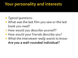 job interview personality questions the job interview