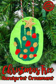 handprint christmas tree ornament kids activities