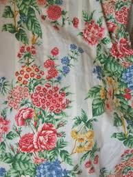 Retro Floral Curtains Vintage Floral Curtains