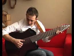 9 string fanned fret emerald 9 string harp guitar demo peter vail avi youtube