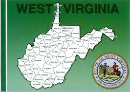 Map Of West Va West Virginia Map Remembering Letters And Postcards