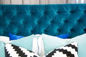 How To Tuft A Headboard by How We Diyed Our Velvet Diamond Tufted Headboard Hometalk