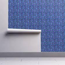 quatrefoil metallic glow blue emerald purple wallpaper by paysmage