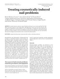 treating cosmetically induced nail problems pdf download available