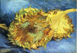 still life with two yellow sunflowers vincent van gogh wallpaper
