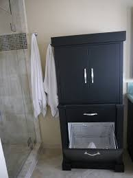 modern black corner linen storage cabinet bathroom to fulfill your