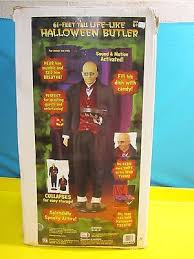 life size 6 u0027 tall halloween creepy sound motion activated butler
