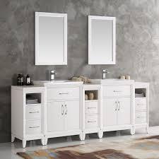 fresca cambridge 84 traditional bathroom vanity set with