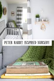 velveteen rabbit nursery gender neutral gray and white rabbit woodland nursery