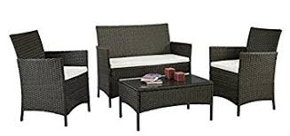Amazoncom  Patio Furniture Set Clearance Rattan Wicker Dining - Indoor outdoor sofas