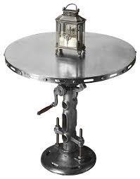 Adjustable Bistro Table Adjustable Industrial Polished Iron Hall And Pub Table Indoor