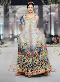 bridal wear designer wear bridal pishwas tone front open maxi
