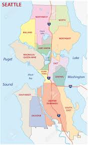 seattle map green lake seattle administrative map royalty free cliparts vectors and