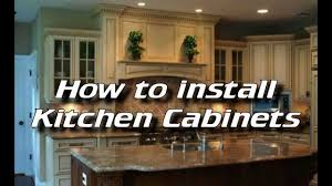 How To Install Kitchen Island Cabinets by How To Install Kitchen Cabinets Installing Kitchen Cabinets