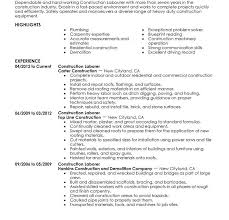 General Laborer Resume Construction Laborer Resumes Construction Resumes 21 Construction
