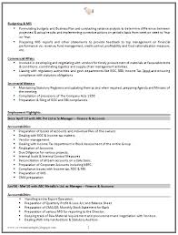 Samples Of Great Resumes by Good Cv Resume Sample For Experienced Chartered Accountant 2