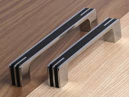 Cabinet Door Handles 3 75 5 6 3 Modern Silver Black Kitchen Cabinet Door Handles