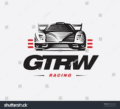 Sport Car Logo On White Background Stock Vector 406859452