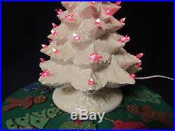 ceramic light up christmas tree 1960s mod howell s mold ceramic light up christmas tree doves skirt